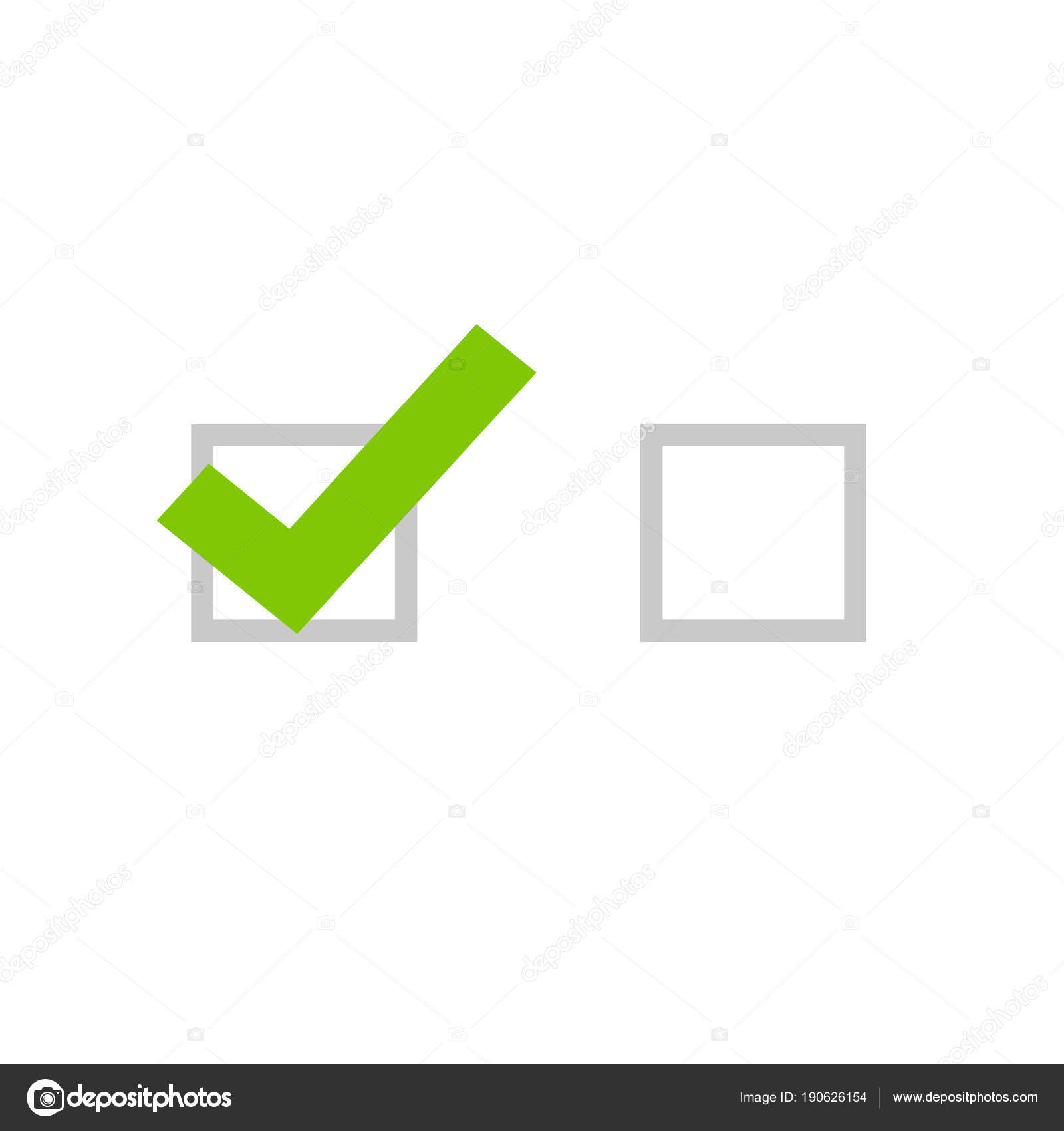hight resolution of tick icon vector symbol flat cartoon green checkmark isolated on white background checked and