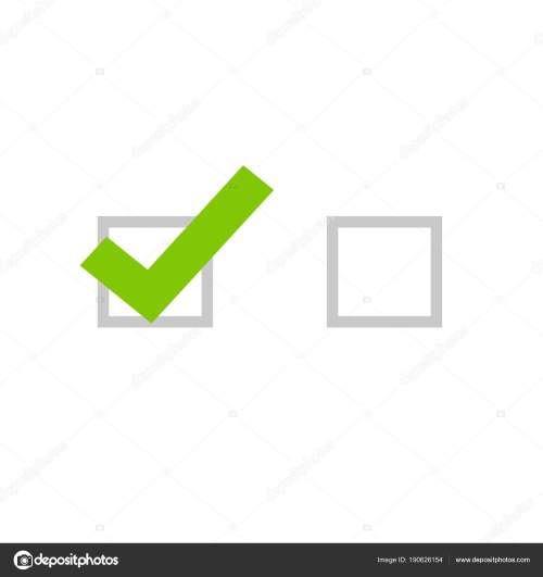 small resolution of tick icon vector symbol flat cartoon green checkmark isolated on white background checked and