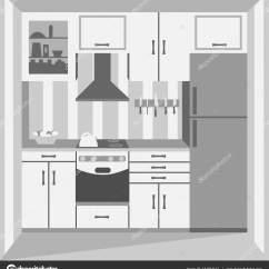 Kitchen Ovens Horizontal Cabinets 烤箱和冰箱厨房 图库矢量图像 C Maxbax 131974124 时尚厨房烤箱和冰箱 矢量图 矢量图片maxbax