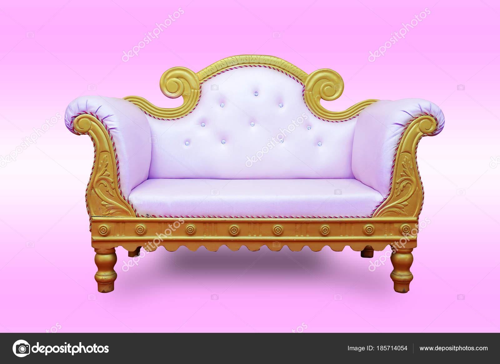 wedding sofa rowe martin sleeper luxury stage on pink background set chairs stock photo