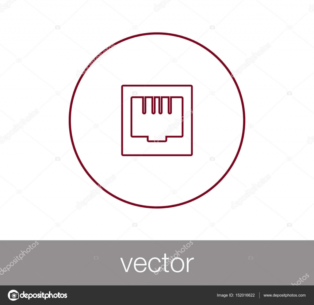 hight resolution of ethernet connection icon stock vector