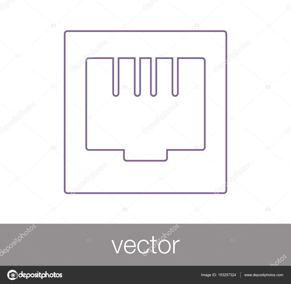 medium resolution of ethernet connection icon stock vector
