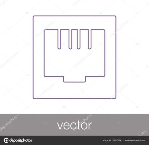 small resolution of ethernet connection icon stock vector