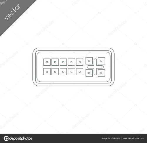 small resolution of dvi port icon stock vector