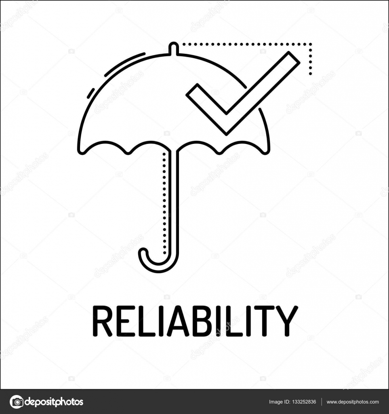 RELIABILITY Line icon — Stock Vector © garagestock #133252836