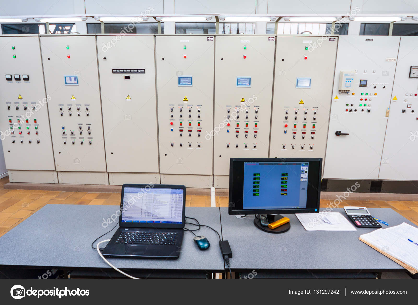 hight resolution of electrician testing industrial machine electrician builder engineer rh depositphotos com fuse box making humming noise kenmore