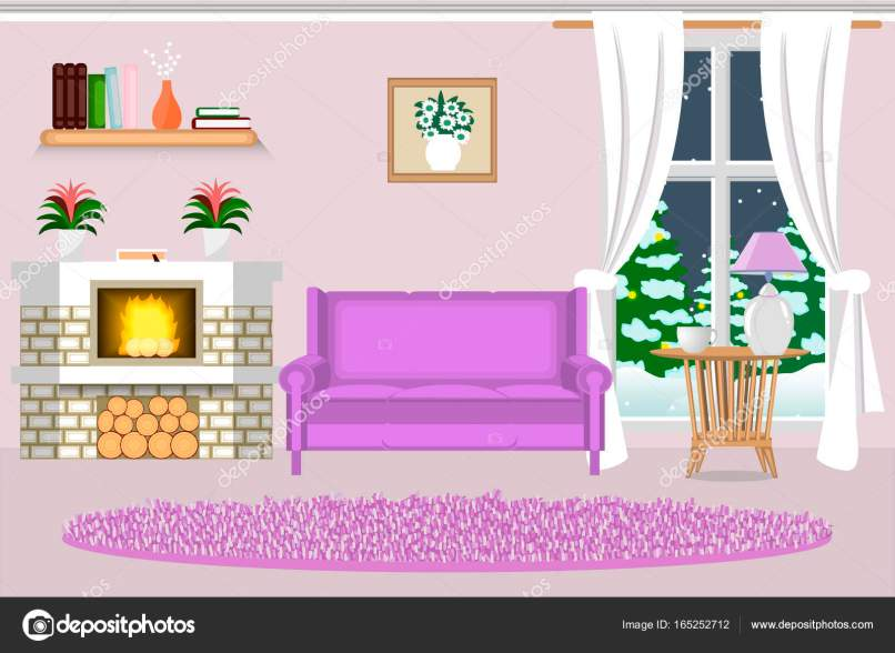 Fancy Living Room With Fireplace Composition - Living Room Designs ...