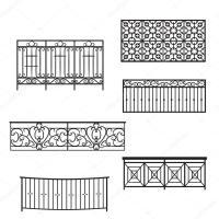 Balcony Railing Vector illustration  Stock Vector ...