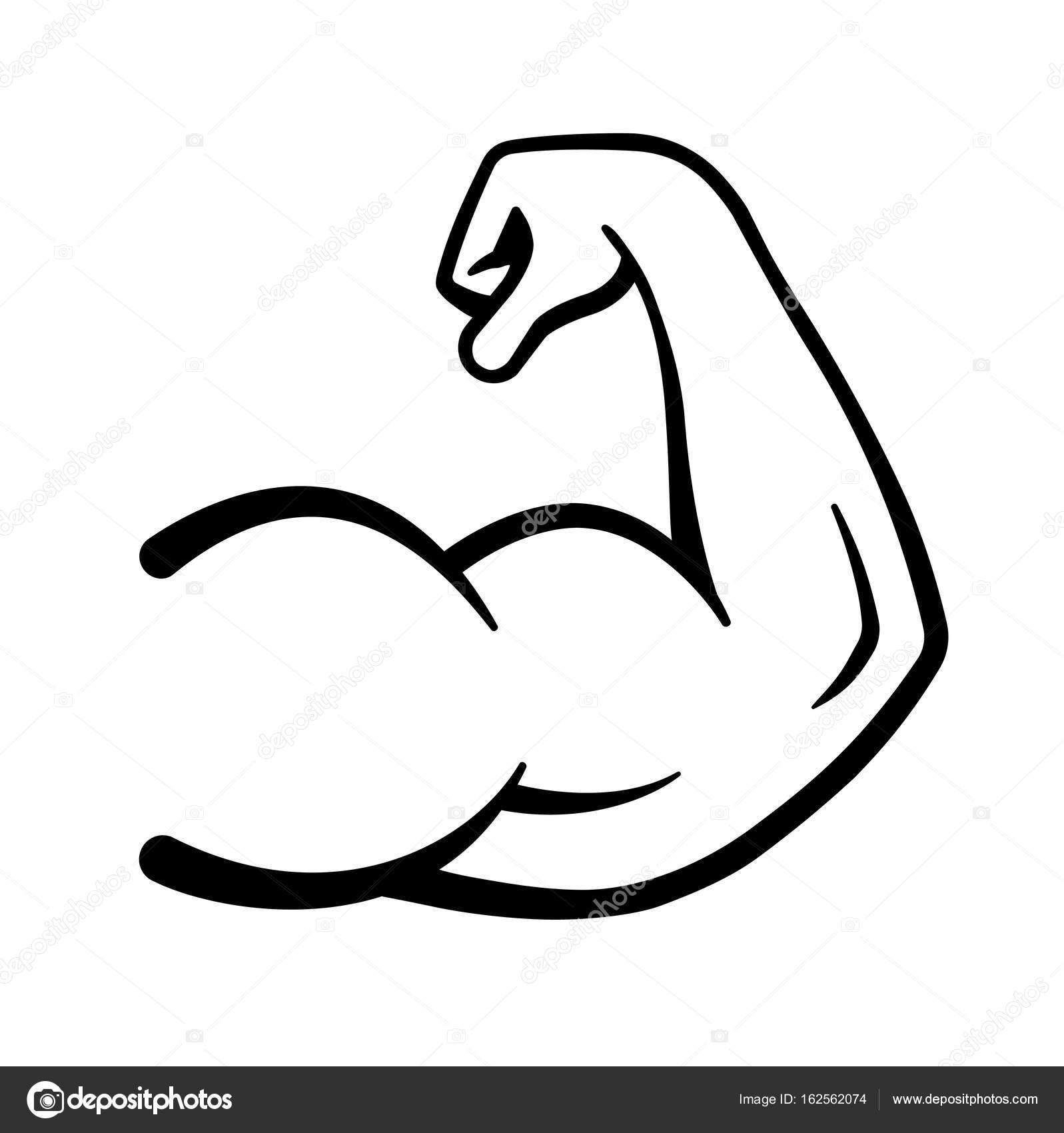 Icone De Poder Forte Bracos Musculo Icone Do