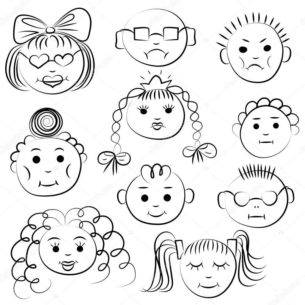 Conjunto Dez Ninos Lindos Dibujos De Los Ninos