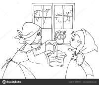 Disegni da colorare Cappuccetto rosso e la mamma ...