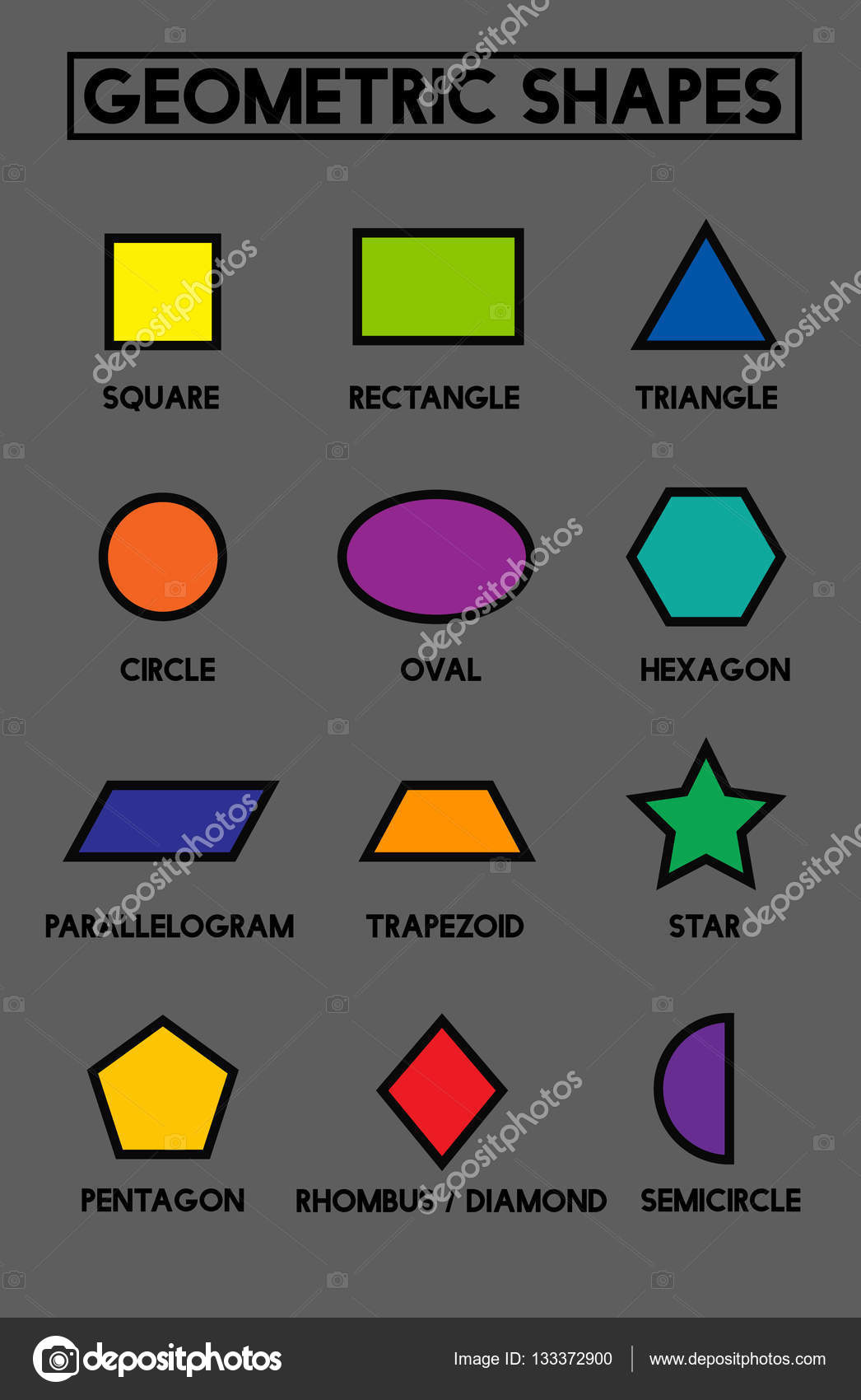 Vector A Set Of Geometric Shapes Suitable For