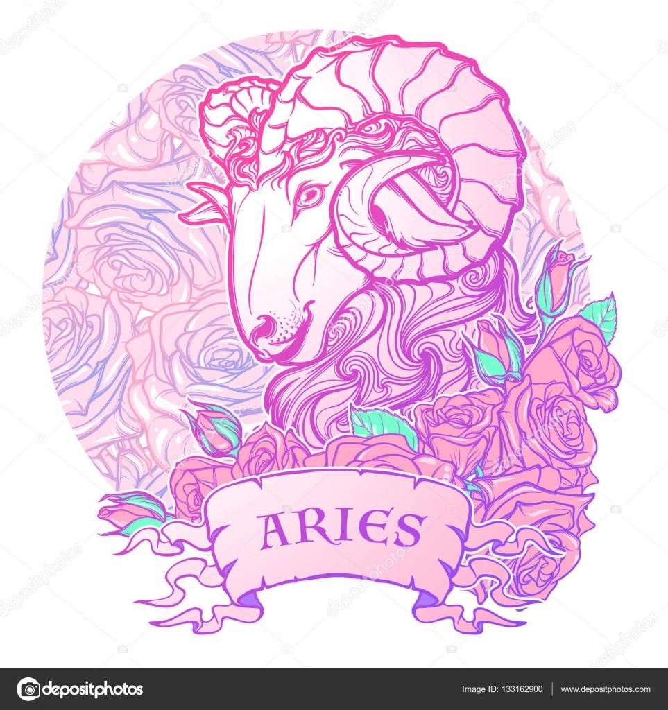 Signo Zodiacal Tatuaje Signo Del Zodiaco De Aries Con Un Marco
