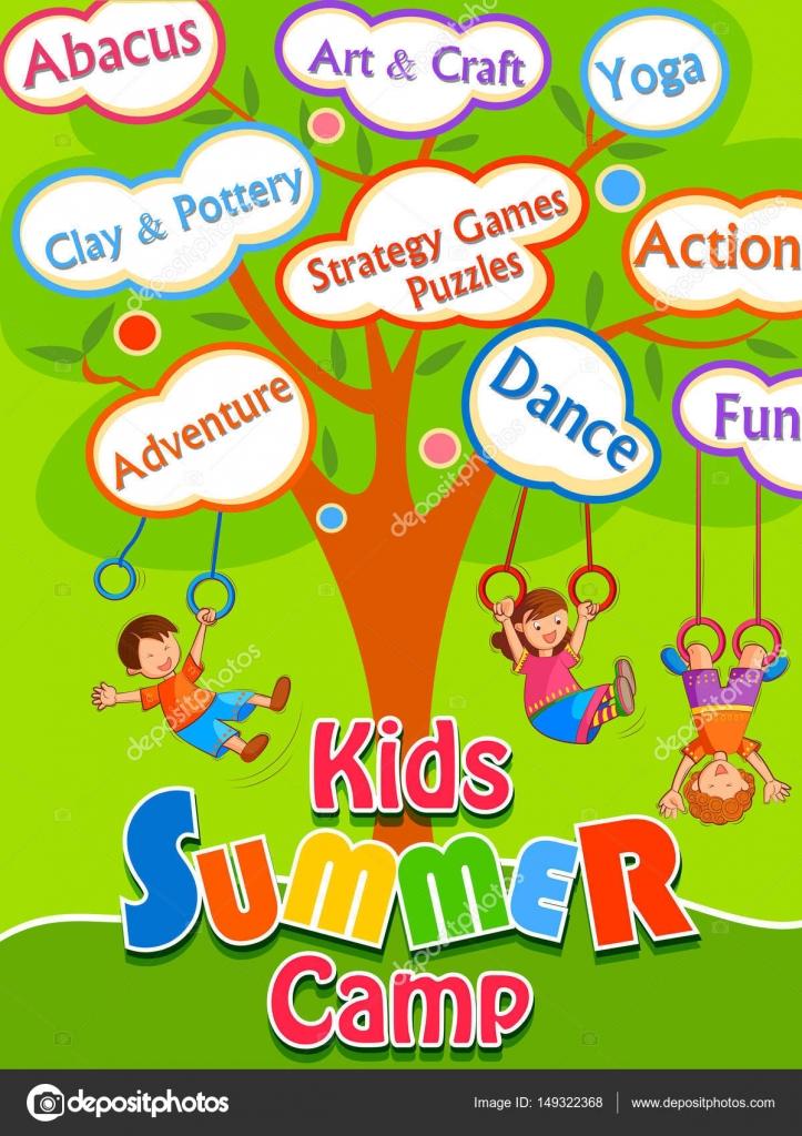 Banner Poster Design Template For Kids Summer Camp