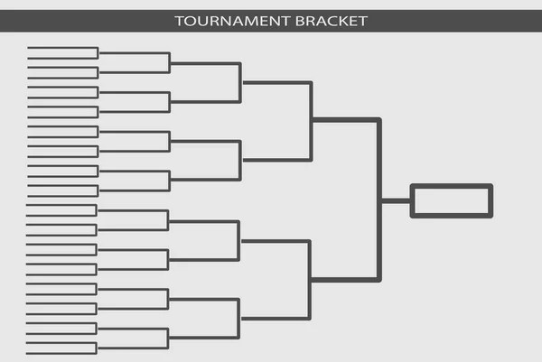 Tournament bracket vector. Championship template. — Stock