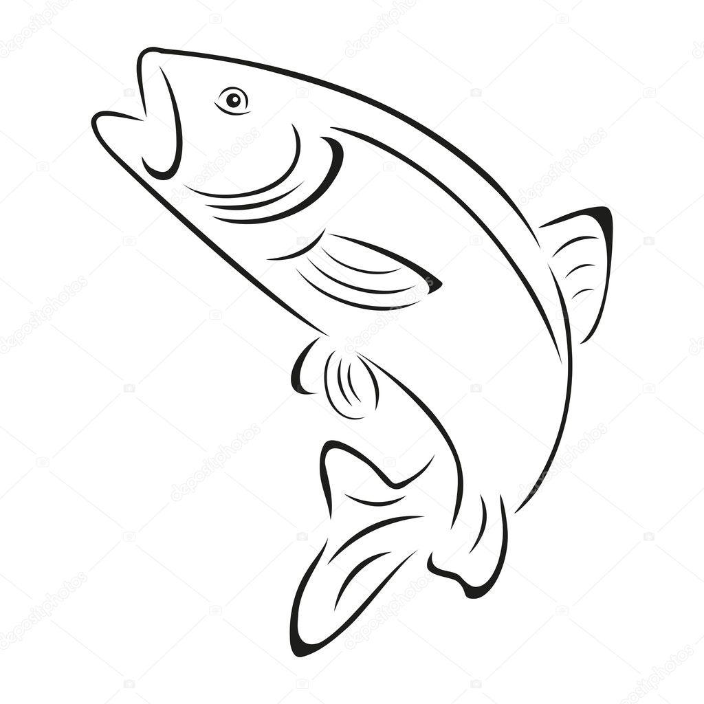 Truite Poisson Logo Peche