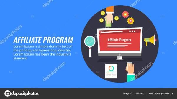 Affiliate Marketing Program Partnership Networking Concept