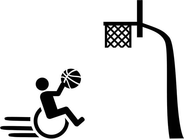 Wheelchair basketball icon — Stock Vector © miceking