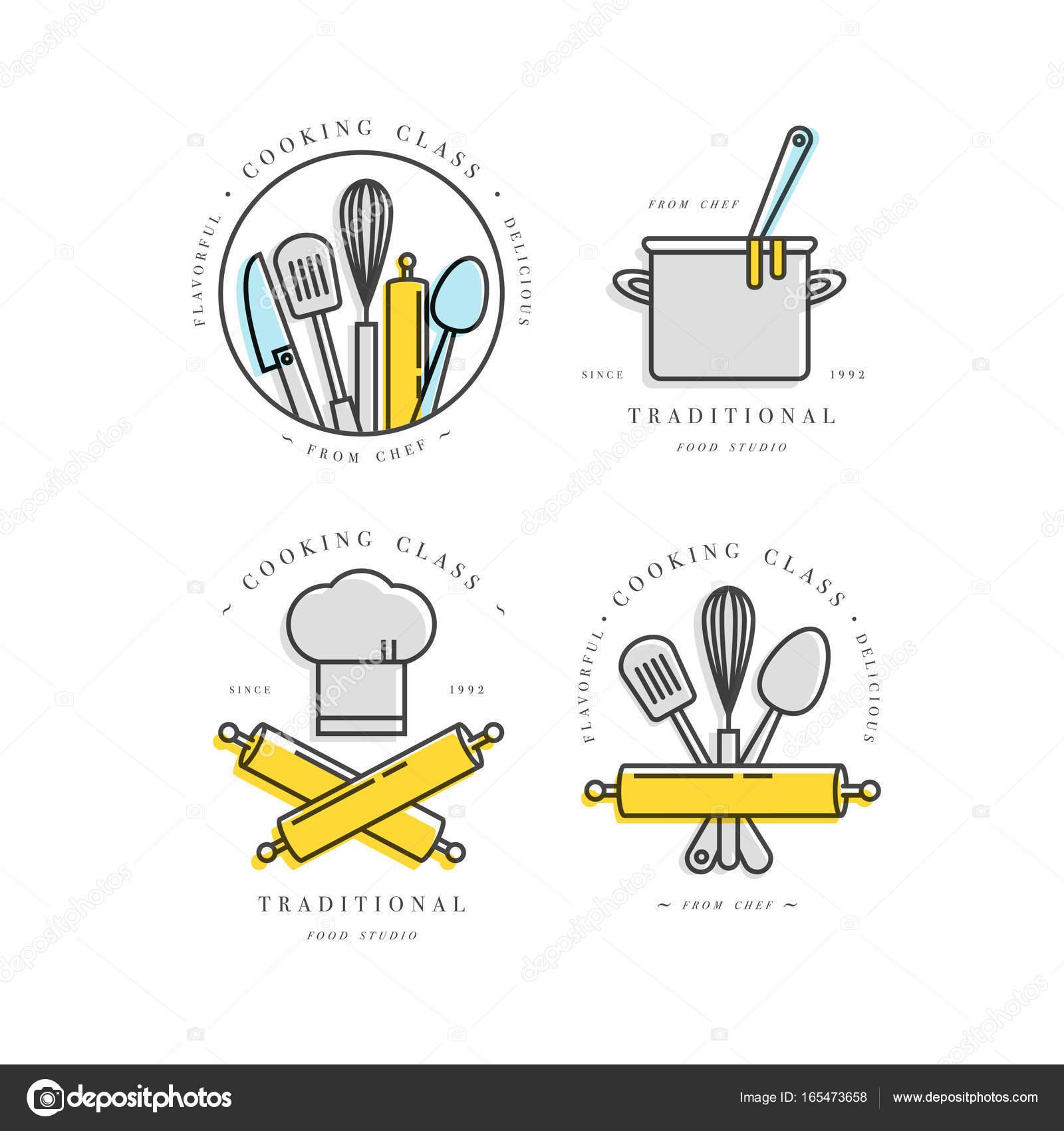 kitchen signs for work hotels with in los angeles 烹饪类线性设计元素 厨房标志 符号 图标或食品工作室标签和徽章 图标或食品工作室