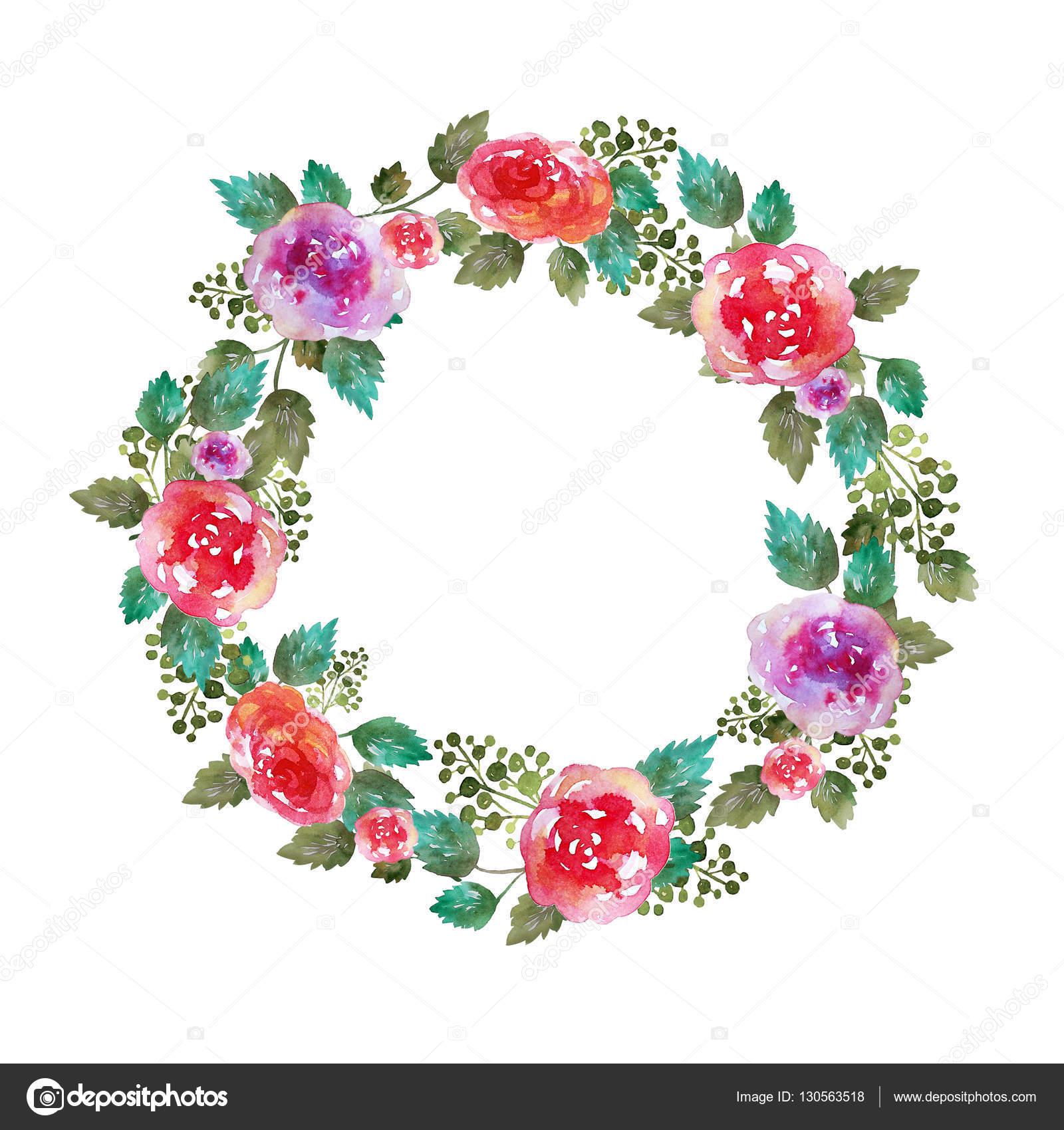 Moldura de casamento guirlanda floral vintage com flores