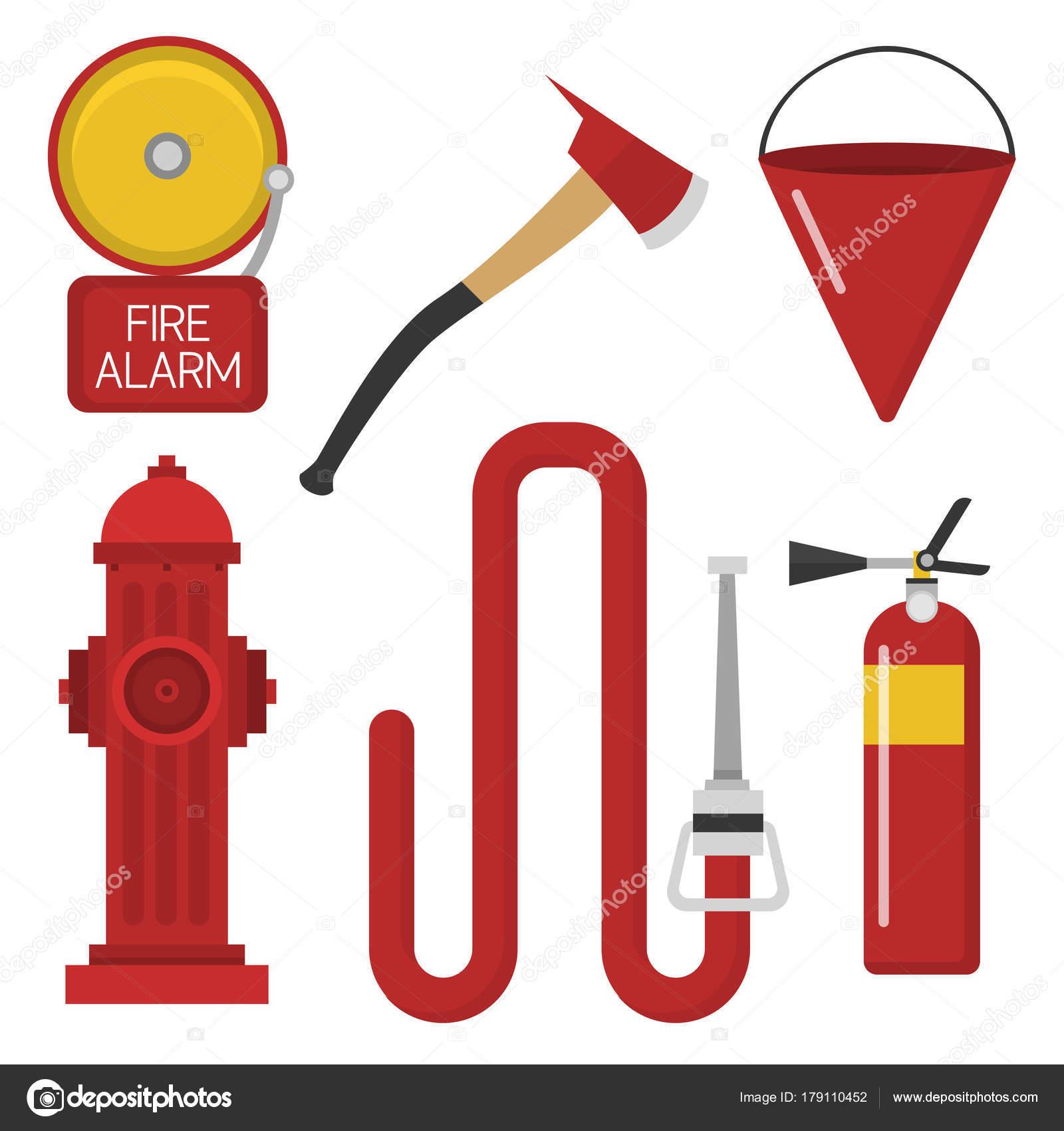 Fuoco Sicurezza Attrezzature Strumenti Emergenza Pompiere
