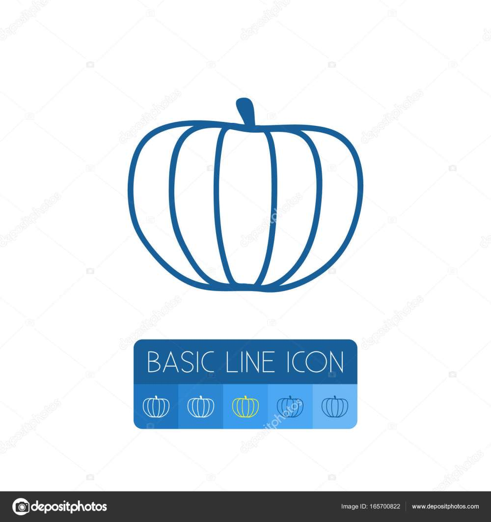 medium resolution of isolated squash outline zucchini vector element can be used for gourd pumpkin squash