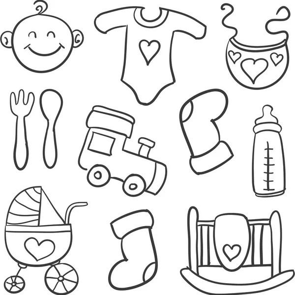 Cleaning, wash line icons. Washing machine, sponge, mop