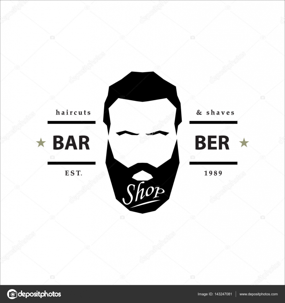 logotipo de la barbería — Vector de stock © Greens87