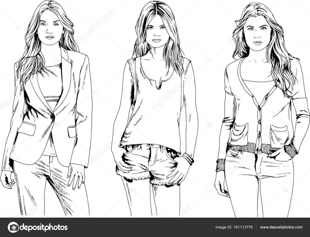 Drawings Of Clothes For Girls