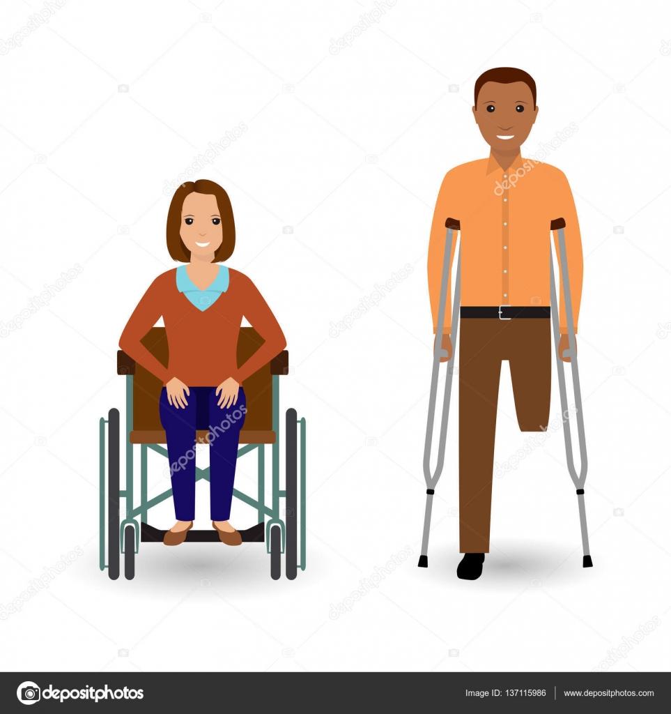 Personas en silla de ruedas  Concepto de las personas