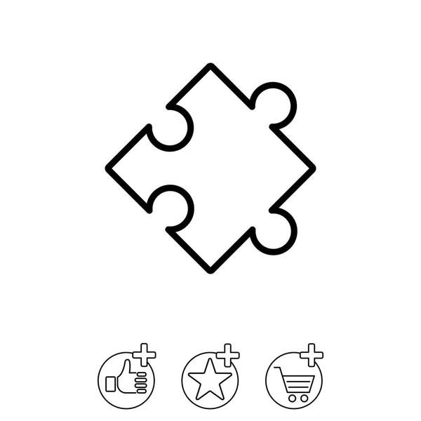 Four piece puzzle diagram — Stock Vector © Arcady #80081370