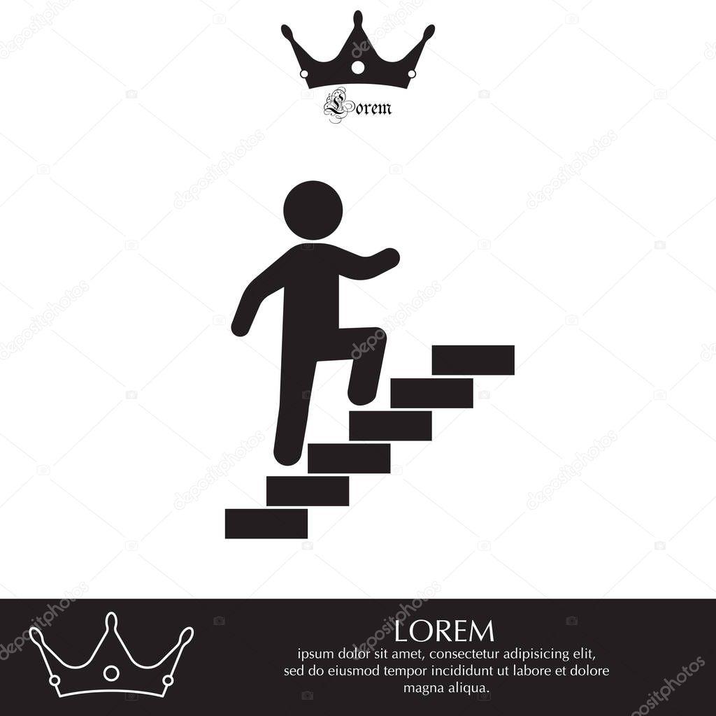 Subir Escadas Simbolo