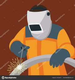 welder man vector illustration flat style side stock vector [ 1600 x 1700 Pixel ]