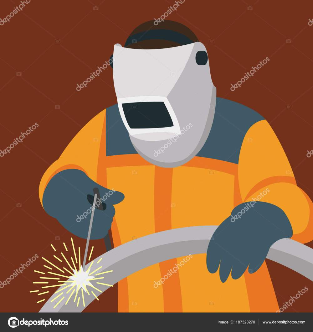 medium resolution of welder man vector illustration flat style side stock vector