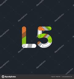 letter and digit l5 logo stock vector [ 1600 x 1700 Pixel ]