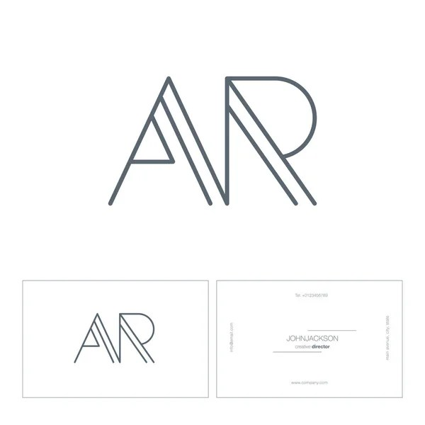 Connected Letters AR Logo — Stock Vector © brainbistro