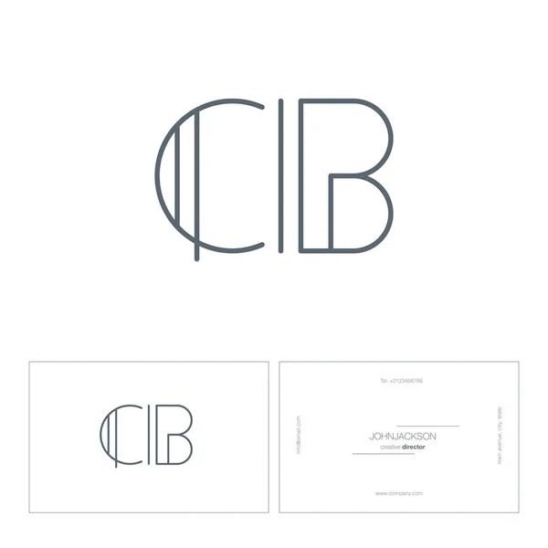 Insignia de la compañía de negocios CB Letras — Vector de