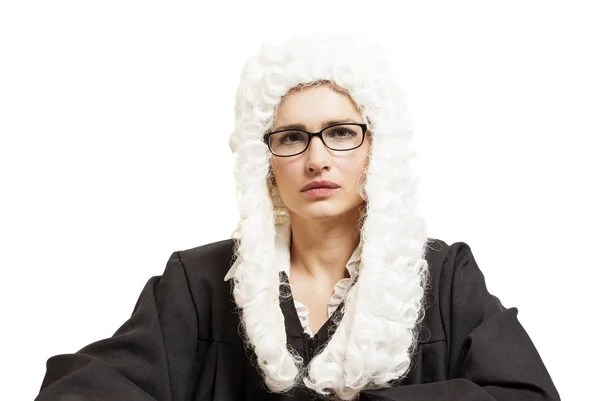 wig gown lawyer stock