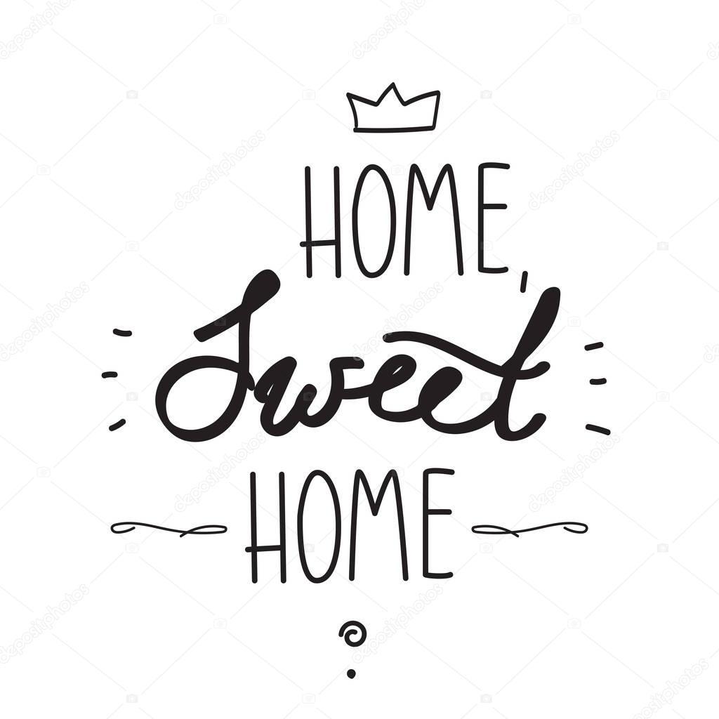 Home Sweet Home Handschriftliche Poster