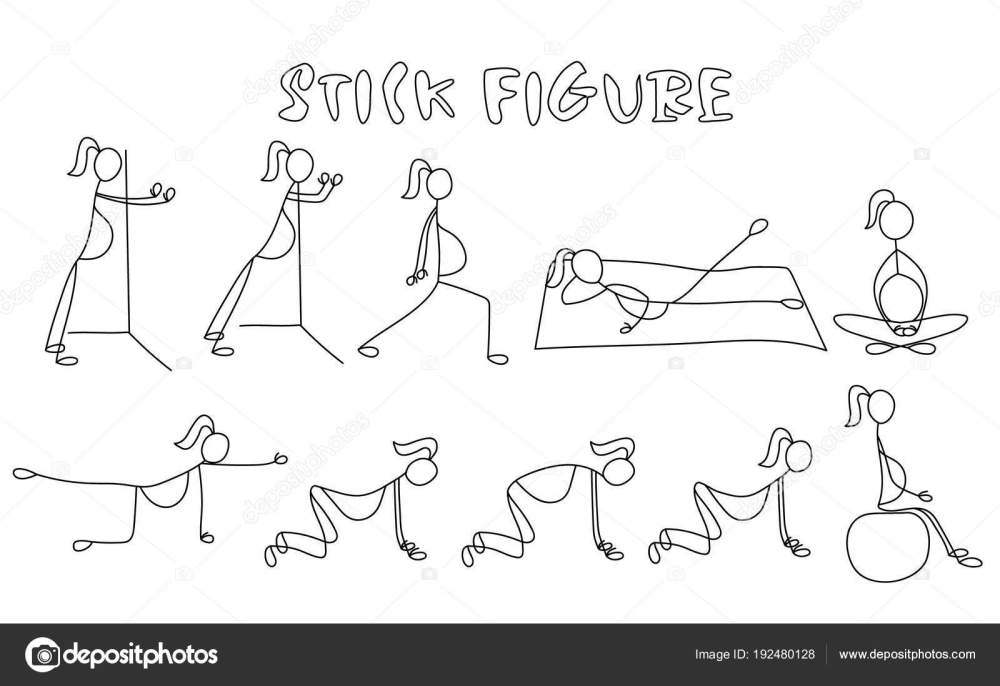 medium resolution of set of stick figure pregnant women simple drawing people pictures sport vector illustration vector by yuliashlyahova