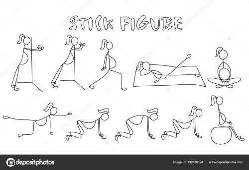 small resolution of set of stick figure pregnant women simple drawing people pictures sport vector illustration vector by yuliashlyahova