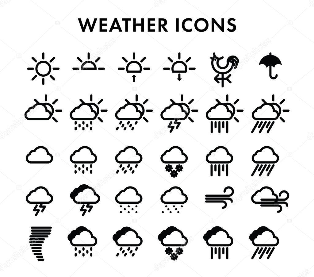 Icons Weather Icon Set Symbol Web Climate The Sun