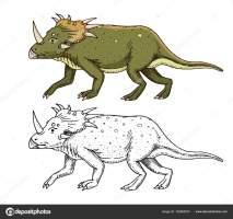 Malvorlage Dino Skelett