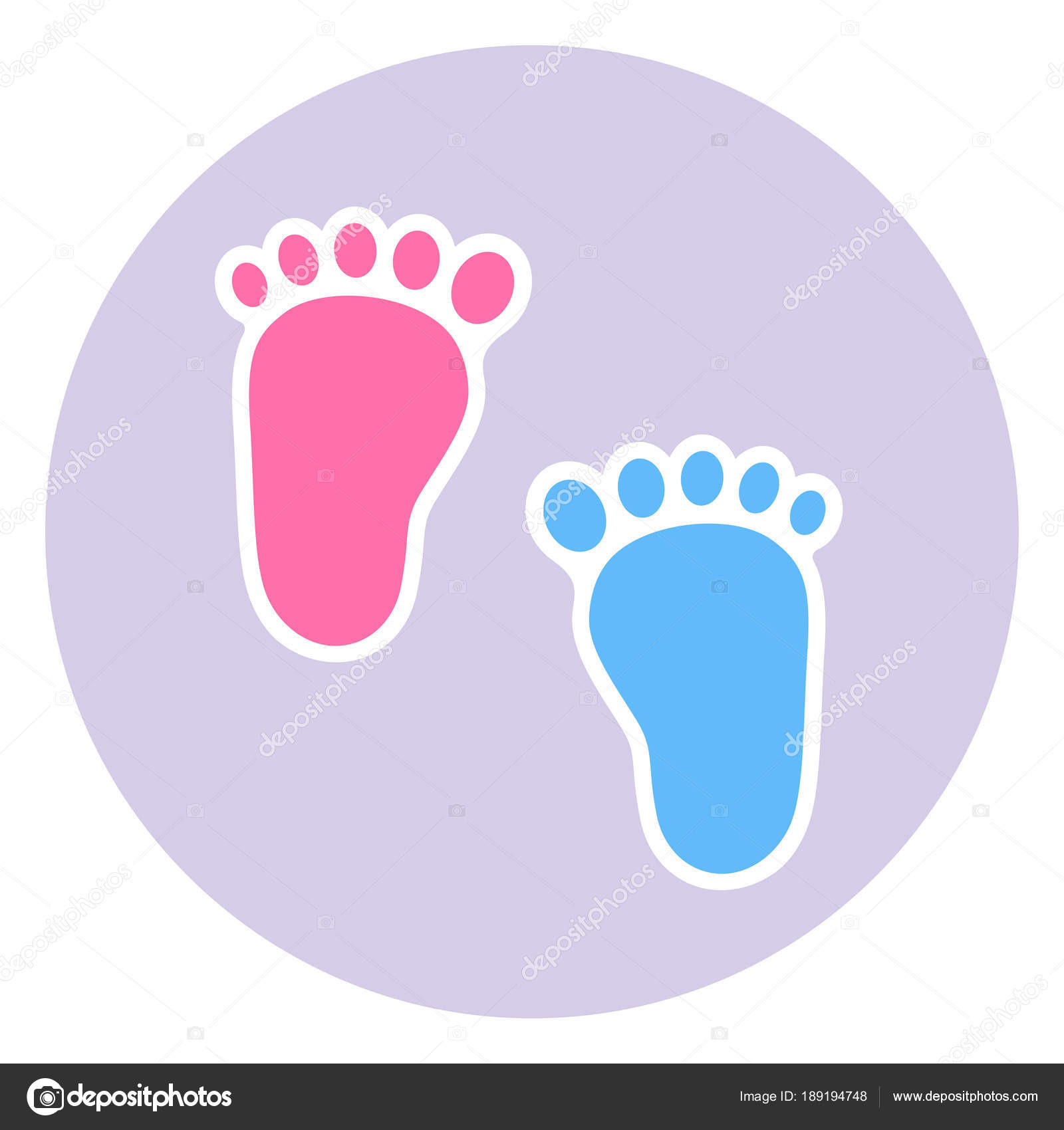 badge footprint child baby