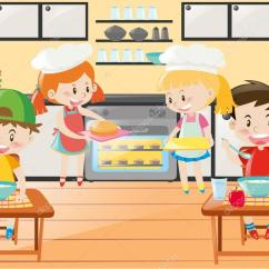Play Kitchens For Boys Kitchen F 男孩和女孩们的厨房现场 图库矢量图像 C Brgfx 127191474 图库矢量图片