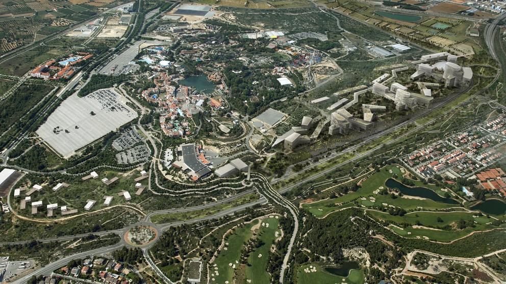 Vista aérea de la primera propuesta por el CRT. / Generalitat de Catalunya