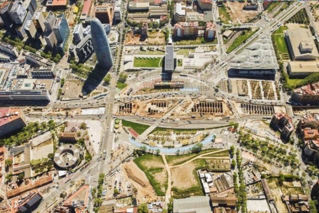 Vista aérea de la Plaça de les Glòries (Barcelona) / Ajuntament de Barcelona