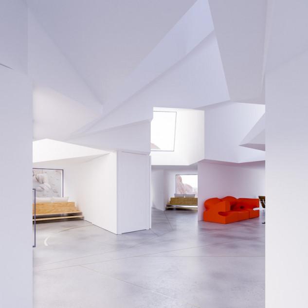 Toques de color en un espacio blanco