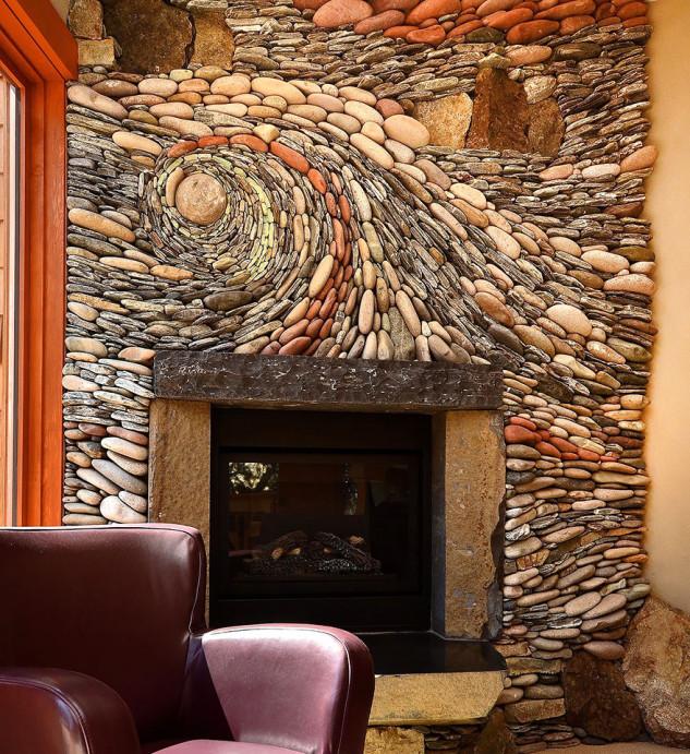 Piedras en la pared