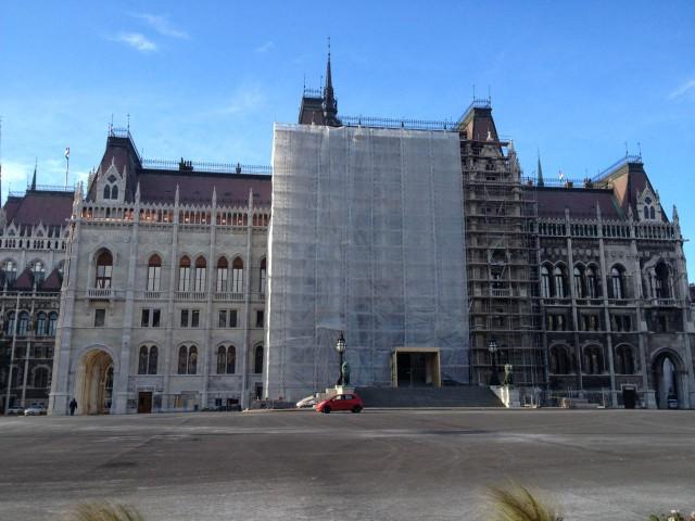 Sede del parlamento en Budapest (Hungría)